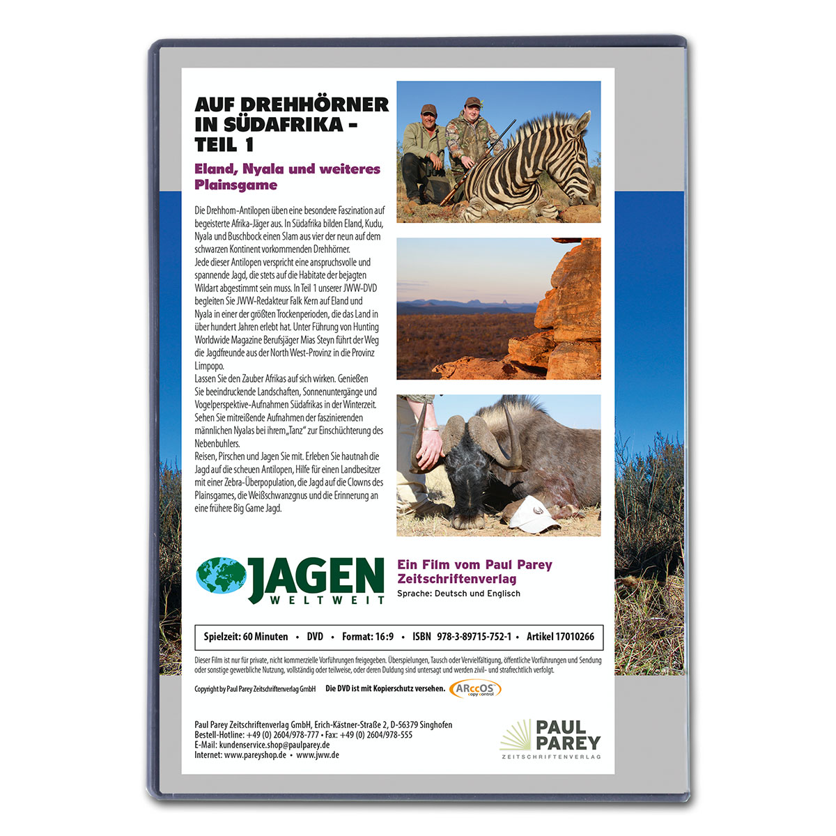 Auf Drehhörner in Südafrika (Teil 1) - JWW DVD Nr. 47 im Pareyshop