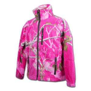 Pinewood Kinder Fleecejacke Oviken Realtree AP Hot-Pink im Pareyshop