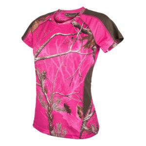 Pinewood Damen T-Shirt Ramsey Camouflage AP Hot Pink/Grün im Pareyshop