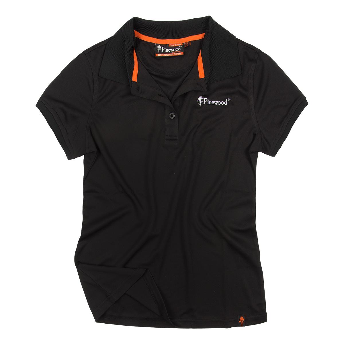 Pinewood Damen Poloshirt Ramsey Schwarz im Pareyshop