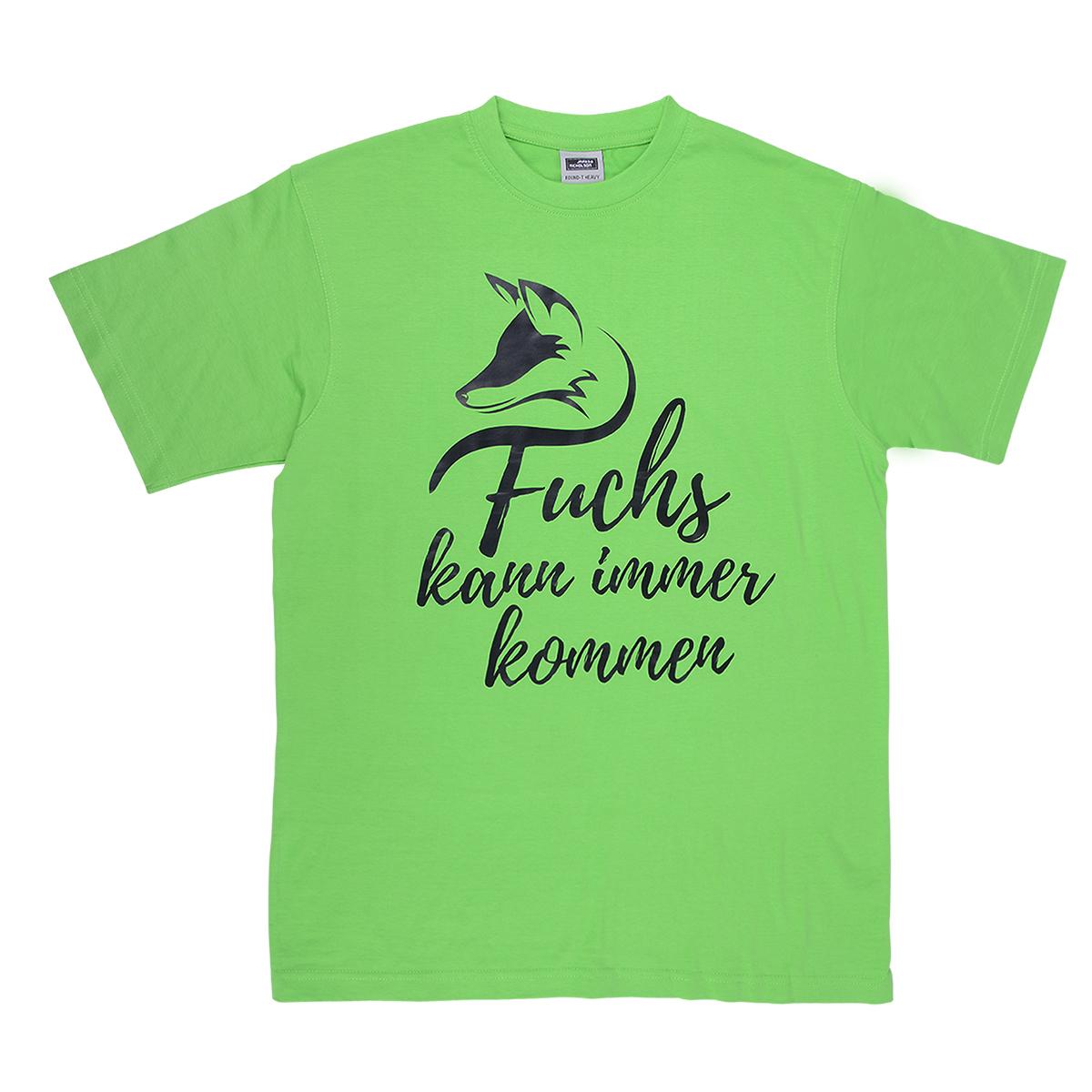 """DJZ Edition: T-Shirt """"Fuchs kann immer kommen"""" Grün im Pareyshop"""