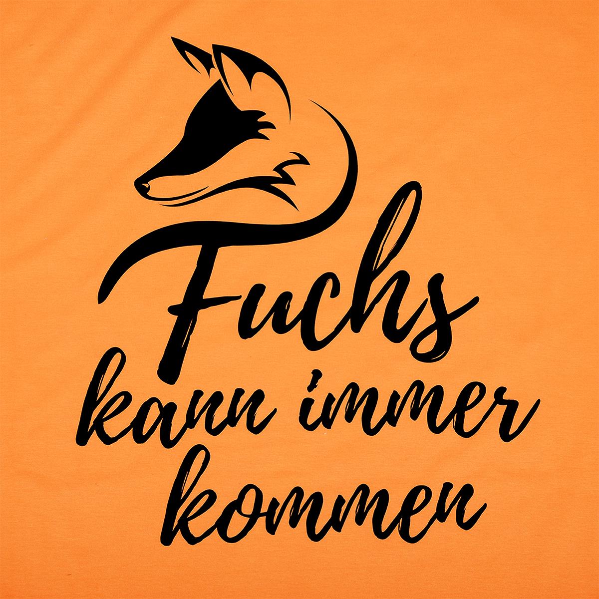 """DJZ Edition: T-Shirt """"Fuchs kann immer kommen"""" Orange im Pareyshop"""