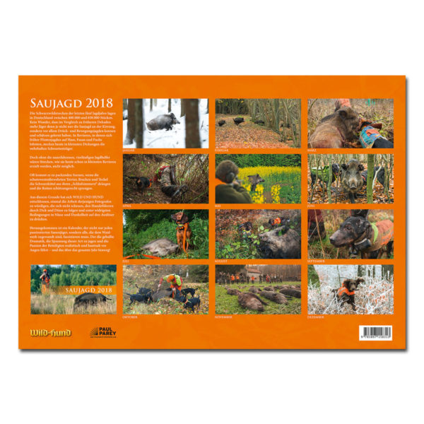 Saujagd Kalender 2018 im Pareyshop