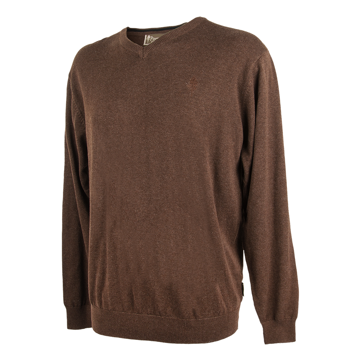 Pinewood Sweater Finnveden V-Neck Brown im Pareyshop