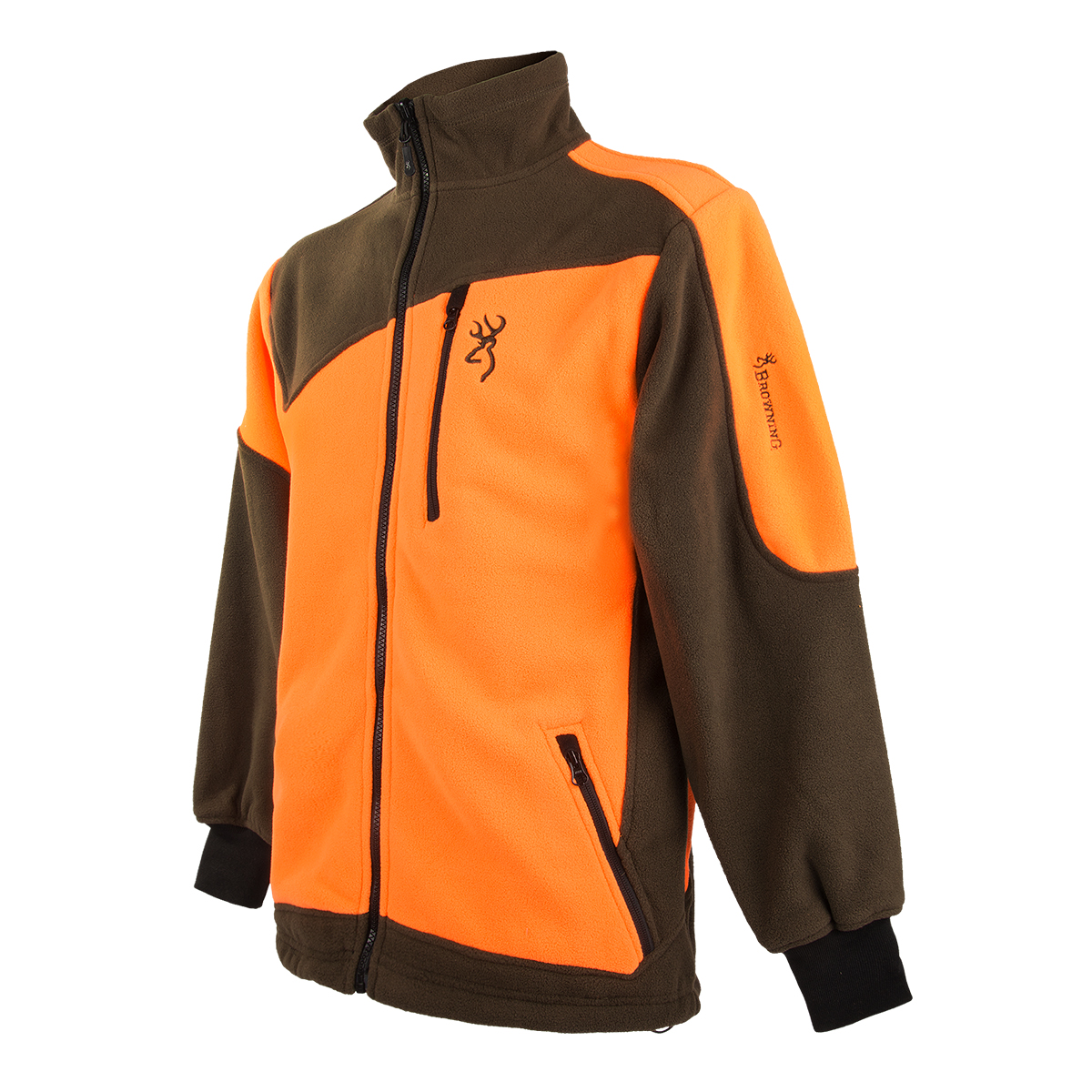 Browning Powerfleece Jacke grün/orange im Pareyshop
