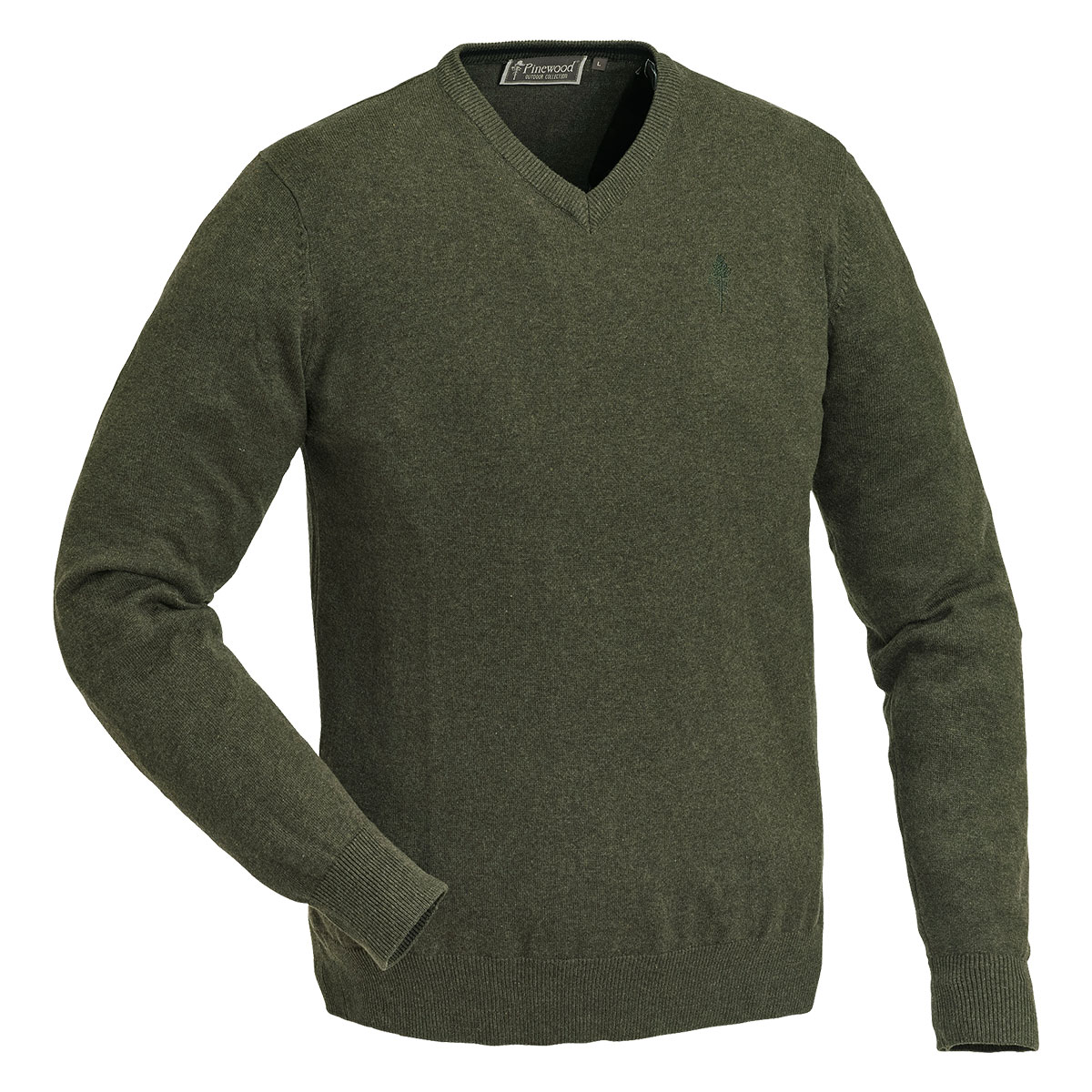Pinewood Sweater Finnveden V-Neck Grün im Pareyshop