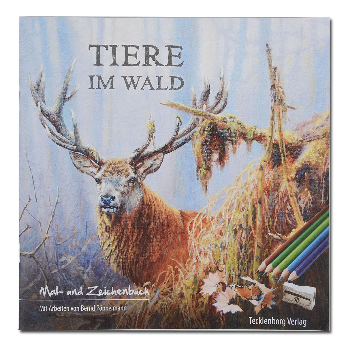 Tiere im Wald (Das Malbuch für Groß und Klein) im Pareyshop