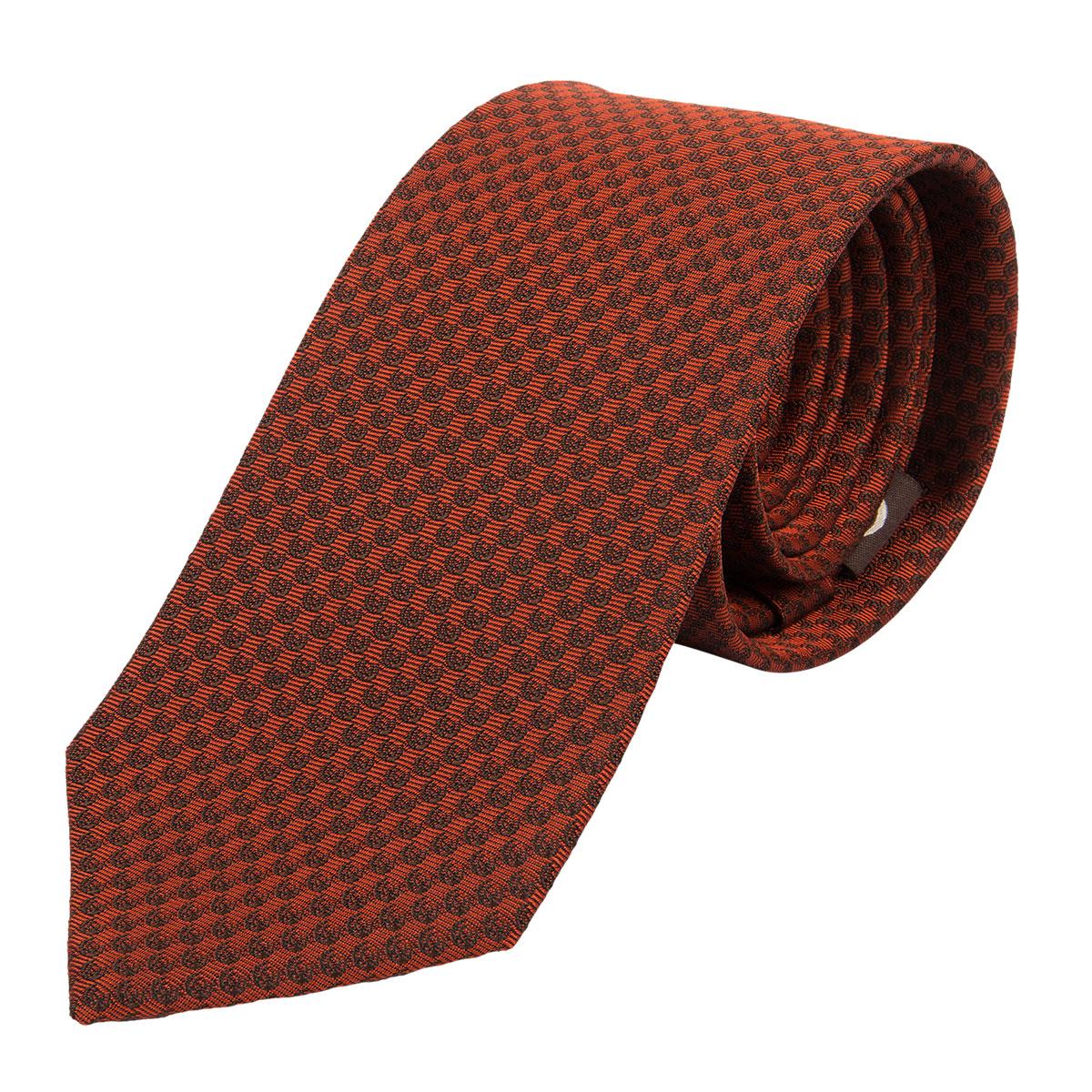 """KEYLER Krawatte """"Basse"""" Dunkelorange/Braun im Pareyshop"""