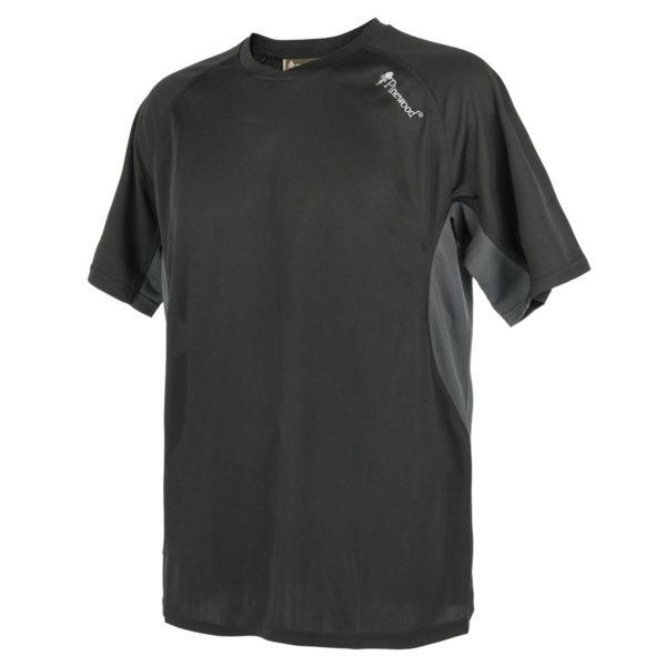 Pinewood T-Shirt Activ Schwarz/Grau im Pareyshop