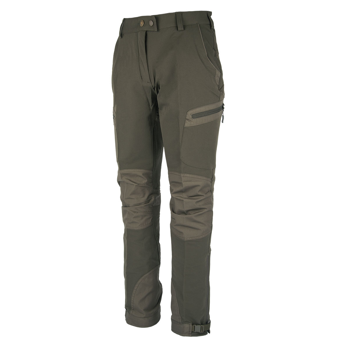 Pinewood Damenhose Wildmark Stretch Moosgrün/Dunkeloliv im Pareyshop