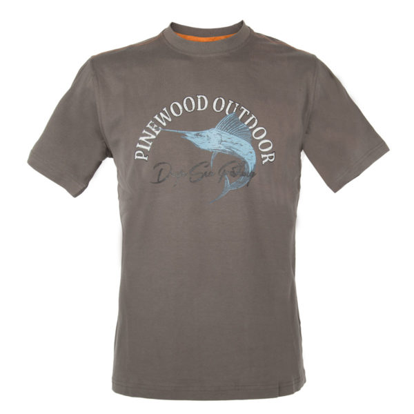 Pinewood T-Shirt Fish Marlin Anthrazit im Pareyshop