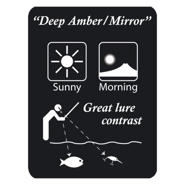 Gamakatsu Edge Polbrille Deep Amber Mirror im Pareyshop