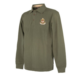 KEYLER Langarm-Poloshirt Herren Olivgrün im Pareyshop