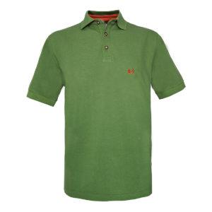 KEYLER Poloshirt Herren Mittelgrün-Orange im Pareyshop