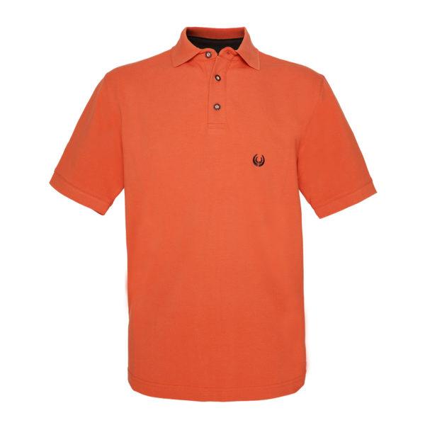 KEYLER Poloshirt Herren Orange-Braun im Pareyshop