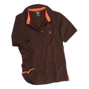 KEYLER Poloshirt Damen Dunkelbraun-Orange im Pareyshop