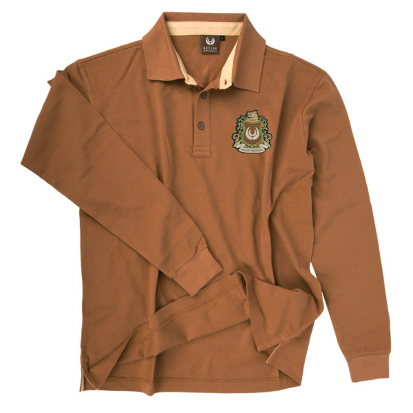 KEYLER Langarm-Poloshirt Herren Mittelbraun im Pareyshop