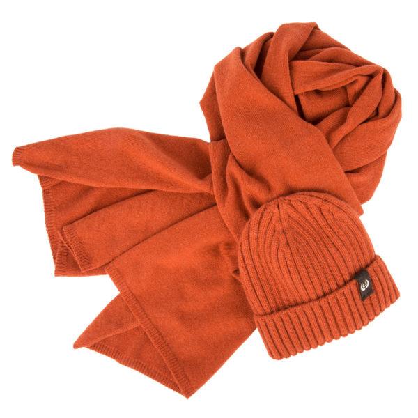 KEYLER Set Winter Kaschmir Orange  (Mütze & Schal) im Pareyshop