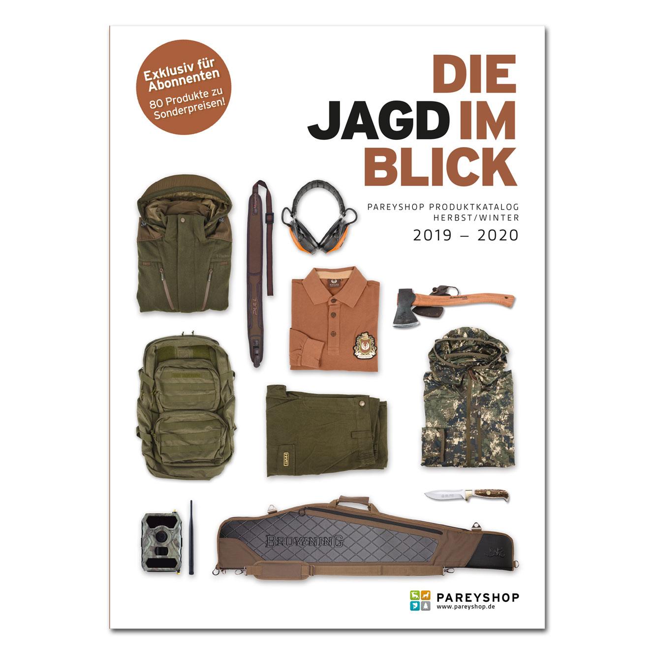 "Produktkatalog ""Die Jagd im Blick"" 2019/2020 im Pareyshop"