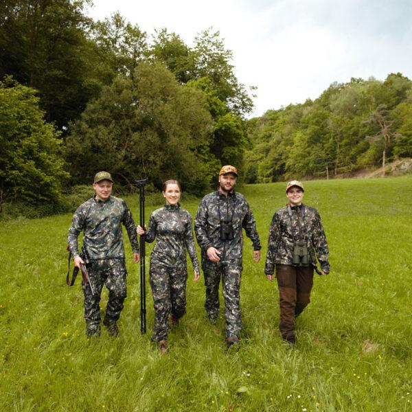 Northern Hunting Camo-Fleecepullover Svart im Pareyshop