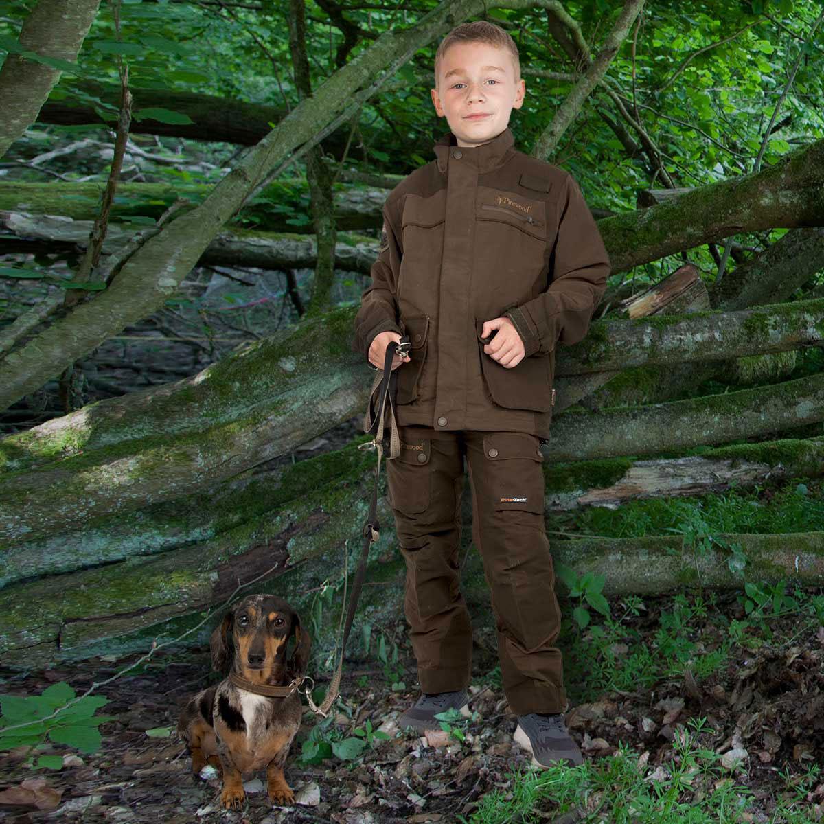 Pinewood Kinderjacke Wolf Lite Braun im Pareyshop
