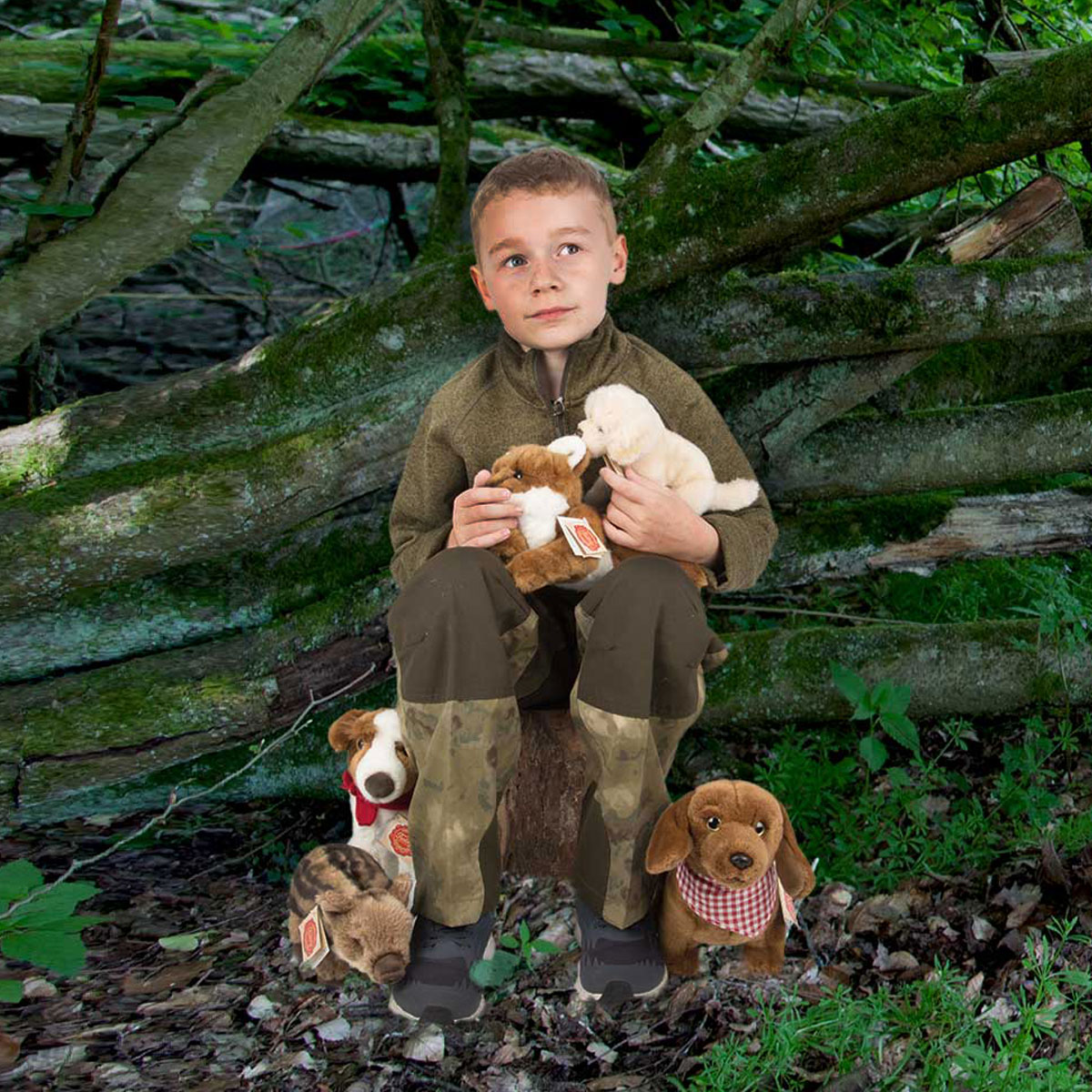 Pinewood Kinderfleecejacke Finnveden Grün im Pareyshop