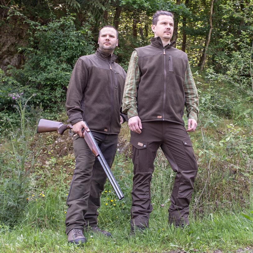 Wild & Wald Herren-Fleeceweste Fuchs im Pareyshop