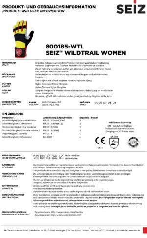 Seiz Wildtrail Damen-Handschuhe im Pareyshop