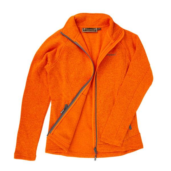 Pinewood Damen-Fleecejacke Gabriella vibrant Orange meliert im Pareyshop