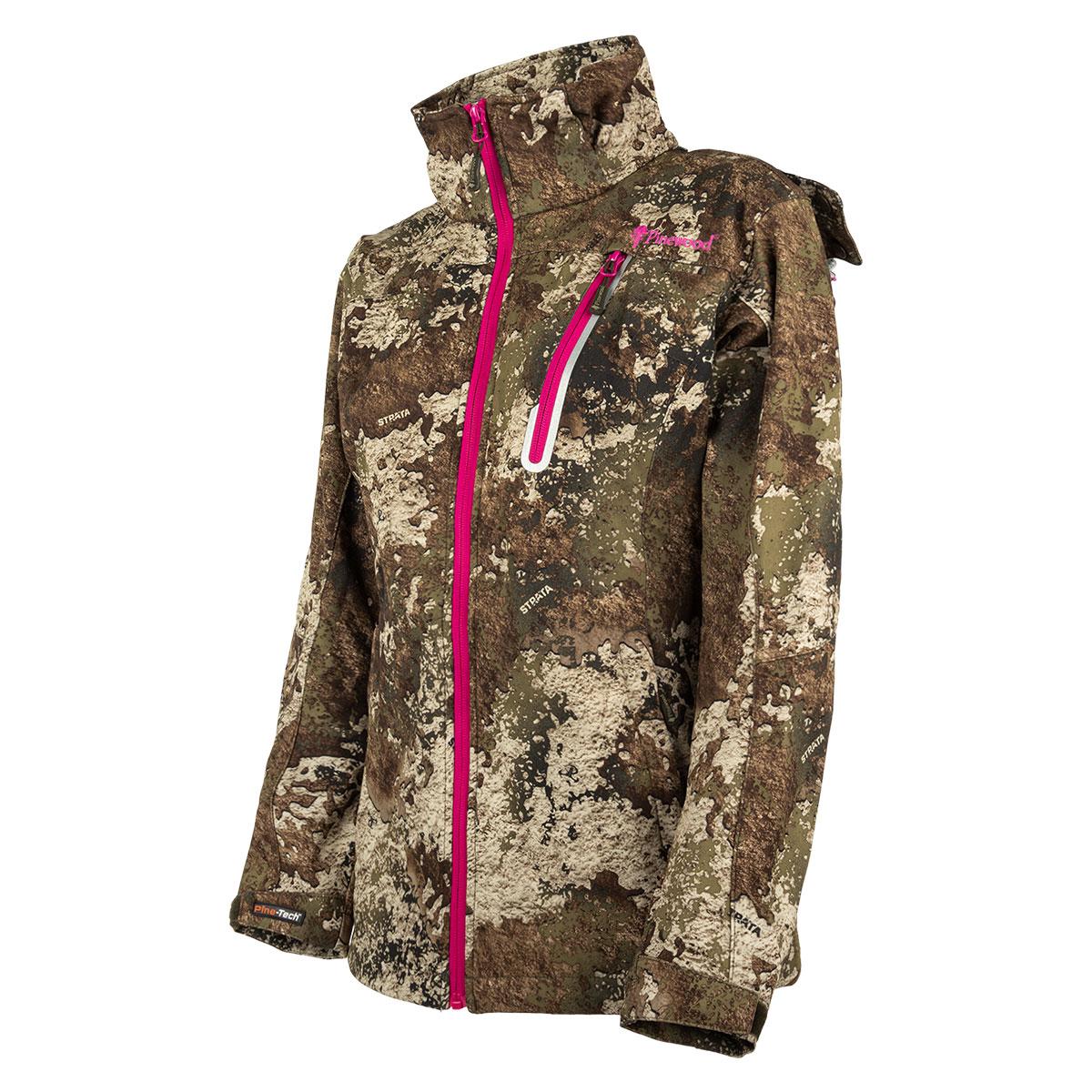 Pinewood Camou Stretch Shell Damen Jacke Camouflage