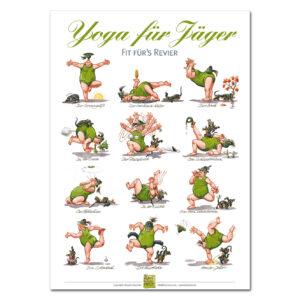 "Klavinius Poster ""Yoga für Jäger"" im Pareyshop"
