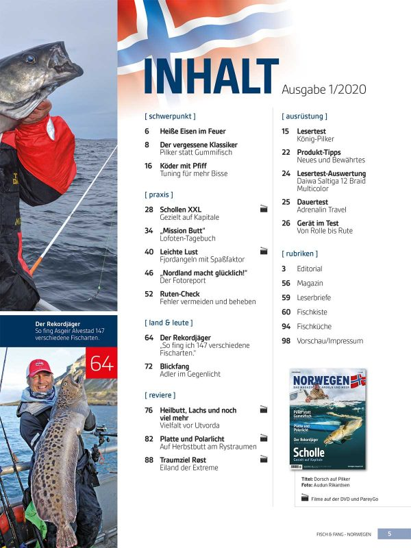 Norwegen-Magazin 1/20 + DVD im Pareyshop