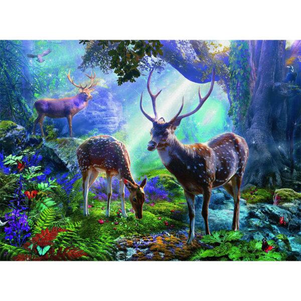 Puzzle: Hirsche im Wald im Pareyshop