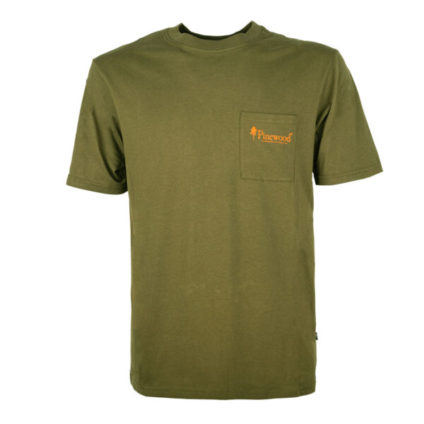 Pinewood T-Shirt Fishing Oliv im Pareyshop