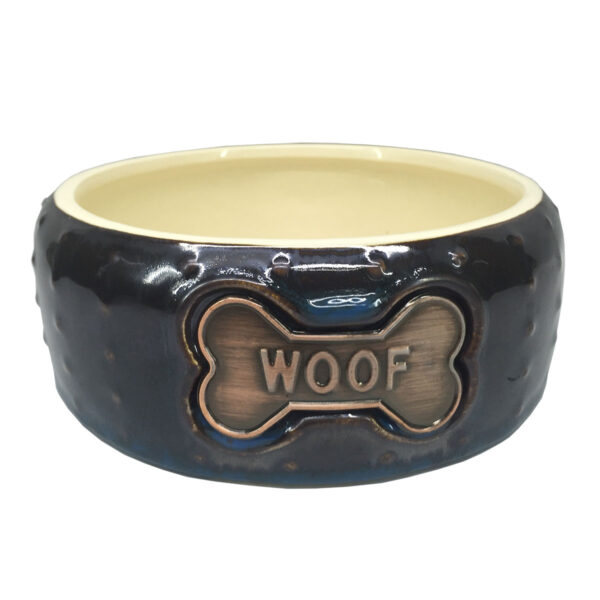 Hundenapf braun-glänzend Keramik 17 x 6.5 cm im Pareyshop
