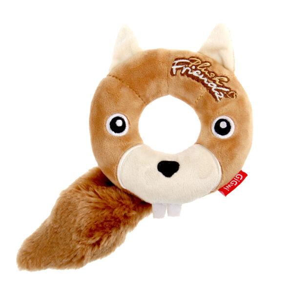 GIGWI Plush Friendz Eichhörnchen aus Schaumgummi im Pareyshop