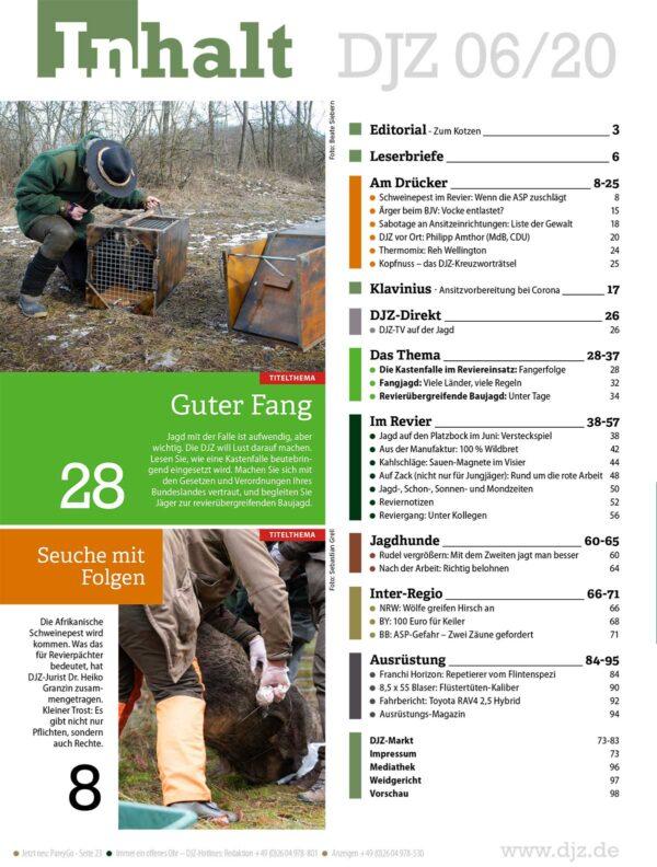 Deutsche Jagdzeitung 2020/06 im Pareyshop