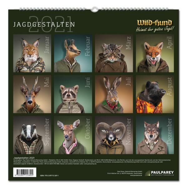 WILD UND HUND Edition: Jagdgestalten Kalender 2021 im Pareyshop
