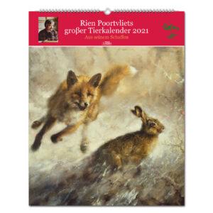 Rien Poortvliets großer Tierkalender 2021 im Pareyshop
