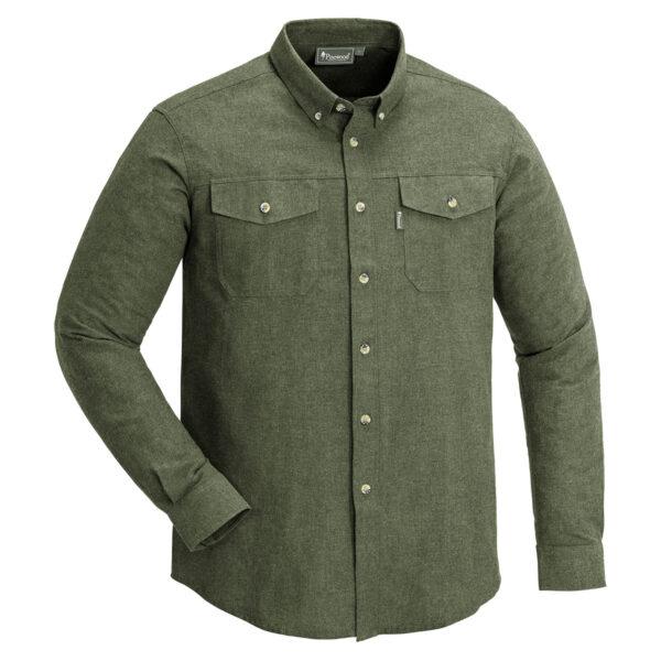Pinewood Herren-Hemd Loui Melange Grün Meliert im Pareyshop