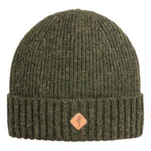 Pinewood Mütze Wool Knitted Moosgrün Meliert im Pareyshop