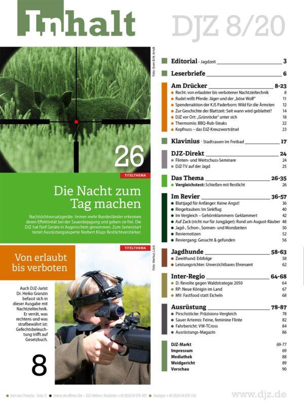Deutsche Jagdzeitung 2020/08 im Pareyshop