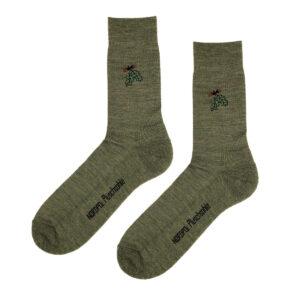 Socken mit Eichenlaub-Stick im Pareyshop
