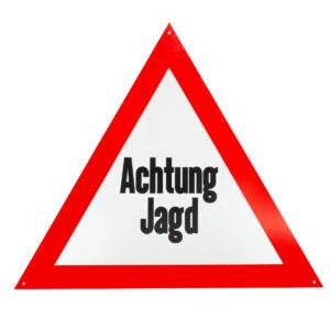 "Aluminium-Schild ""Achtung Jagd"" im Pareyshop"