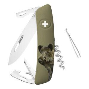 SWIZA Taschenmesser D05 Wildschweinmotiv im Pareyshop