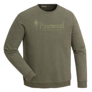 Pinewood Herren Sweater Sunnaryd Grün im Pareyshop