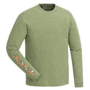 Pinewood Herren-Longsleeve Shirt Bolmen Leaf Meliert im Pareyshop