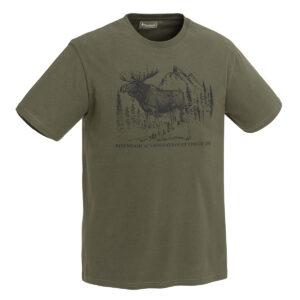 Pinewood Herren T-Shirt Moose Grün im Pareyshop