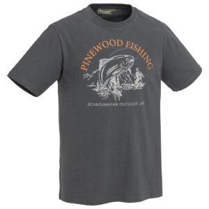 Pinewood Herren T-Shirt Fish Anthrazit im Pareyshop