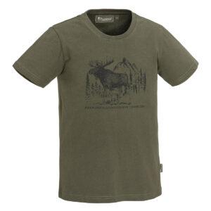 Pinewood Kinder T-Shirt Moose Grün im Pareyshop